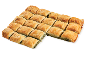 Square country pie with spinach vegetarian  (35×29cm)