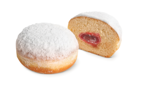 Berliner with multifruit jam filling