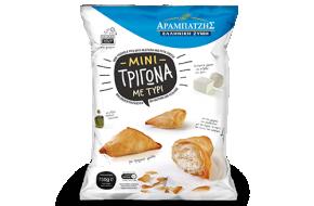 Mini triangle pies with mizithra-feta cheese