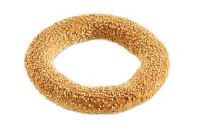 Whole grain round koulouri Thessaloniki