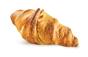 Croissant filled with nougat cream