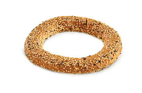 Koulouri wholegrain round with black sesame