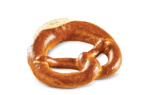 Pretzel with salted butter, fully baked