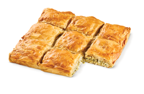 Square country pie leek - mizithra - feta cheese