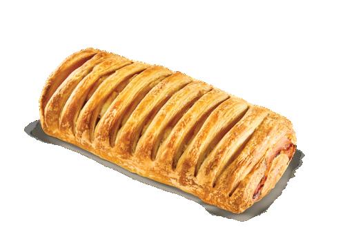 Ham-bacon-gouda cheese croissant