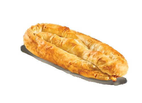 Twirled pie with gouda - kasseri cheese