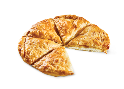 Round country pie mizithra - feta cheese